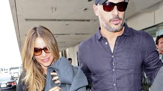 Sofia Vergara And Joe Manganiello Push Through At LAX