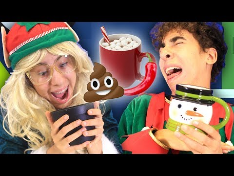 Elfs React to Different Hot Cocoa Flavors!