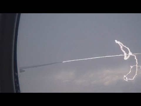 Watch The Shocking Moment Lightning Strikes an Airplane Mid-Flight