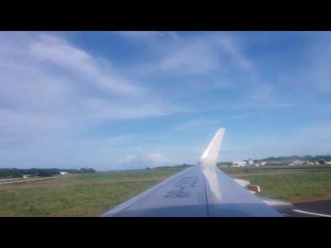 Landing at new puerto princesa palawan airport