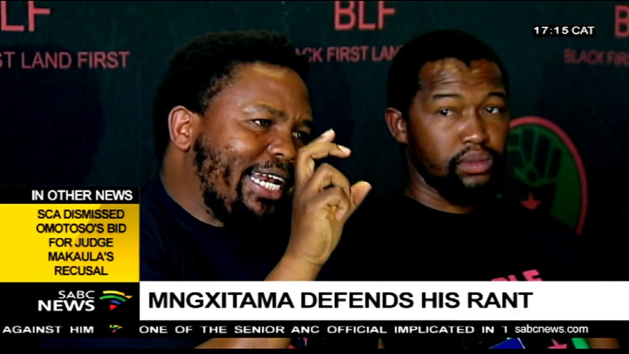 BLF leader defends his racial comments