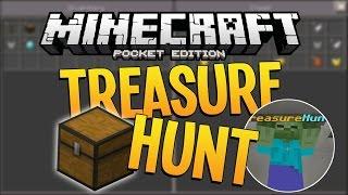 NEW Minecraft PE 0.12.2 Server! - Treasure Hunt Mini-Game!