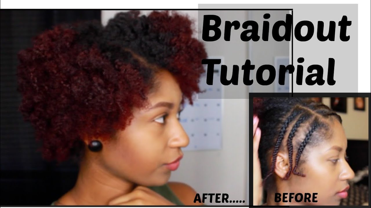 Braid Out Tutorial On Short Natural Hair Naturalnikki Youtube