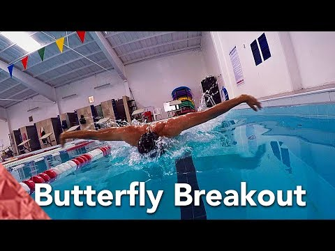 Improve your butterfly swimming technique with a perfect breakout
