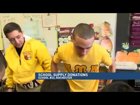 RIT on TV: Fraternities donate school supplies to RCSD school