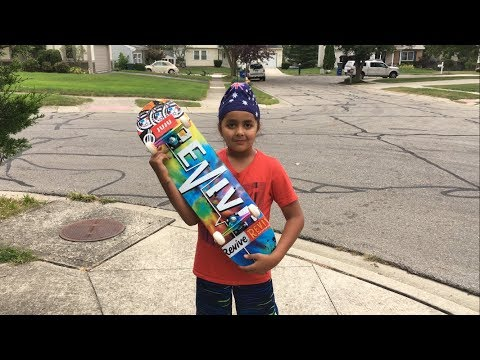LITTLE BROTHERS FIRST COMPLETE SKATEBOARD!