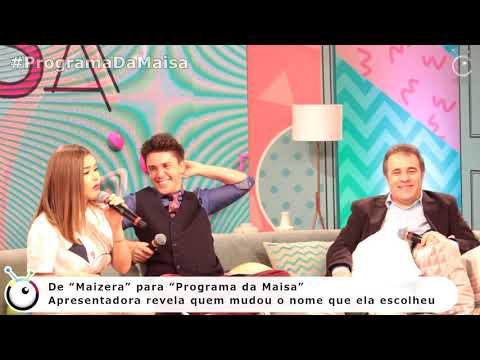 Maisa explica quem mudou nome de Maizera para Programa da Maisa