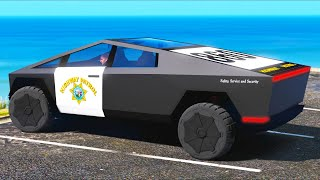 NEW Tesla Cybertruck - POLICE EDITION!! (GTA 5 Mods Gameplay)