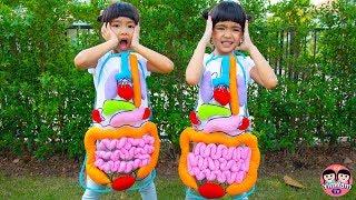 หนูยิ้มหนูแย้ม   ผ้ากันเปื้อนอวัยวะในร่างกาย Kids Activity
