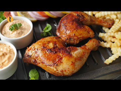 Peri peri Grilled Chicken with sauces Recipe by Food Fusion