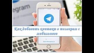 как добавить контакт в телеграм с мобильного
