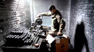 Резка угля на водяные фильтры