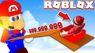 MARIO SLIDE 999,999,999 METERS LONG! -ROBLOX: Slide Down!