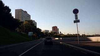 . Москва-Котельническая набережная. Поездка в автомобиле по столице