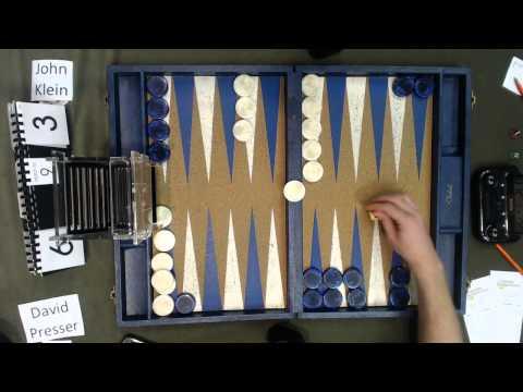 Carolina Backgammon R9 John Klein v David Presser