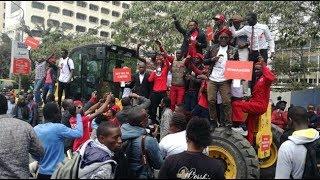 Kenyans protest Bobi Wine's detention, demand his unconditional release