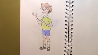 439 - How to Draw Christopher Robin from Winnie the Pooh