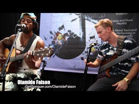 Olamide Faison and Brady Watt perform at the Conquer Entertainment booth during  MAIC2013