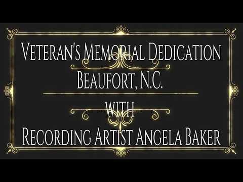 Recording Artist Angela Performs for Veteran's Memorial Wall Dedication in Beaufort, N.C.