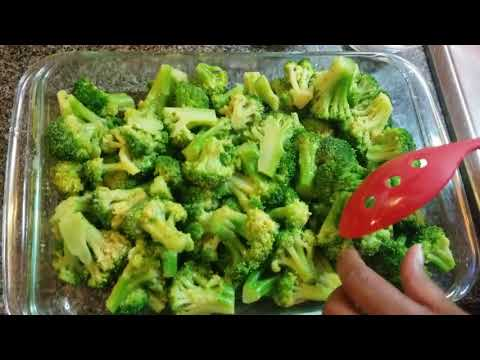 Oven Steamed Broccoli