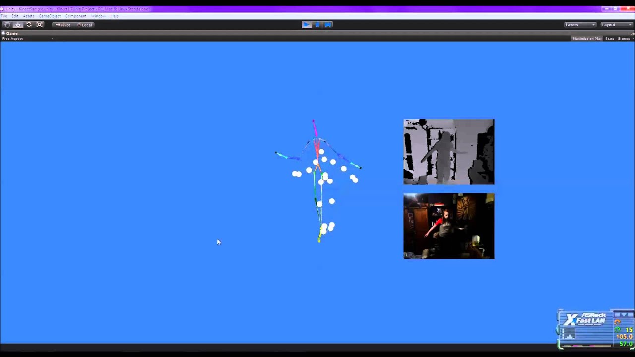 The Kinect SDK Wrapper for Unity Demo