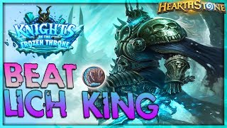 How to beat THE LICH KING [Druid] - Solo Adventure 🌟 HEARTHSTONE  | Frozen Throne Legend
