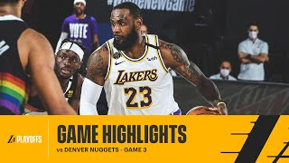 HIGHLIGHTS | LeBron James (30 pts, 10 reb, 11 ast) vs Denver Nuggets
