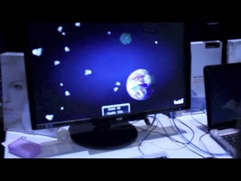Tobii Eye Tracking Asteroids Game Youtube