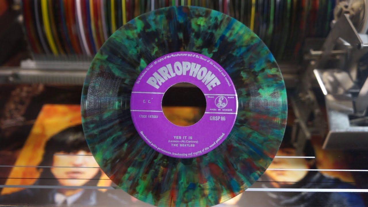 Jonnie's Jukebox Plays: Yes It Is - The Beatles 1965 Multicolour 45rpm Record