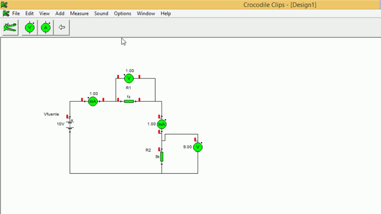 Circuito Not : Simulación circuito serie crocodile clips v youtube
