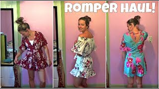Rompers From SheIn (Clothing Haul + Try On!)