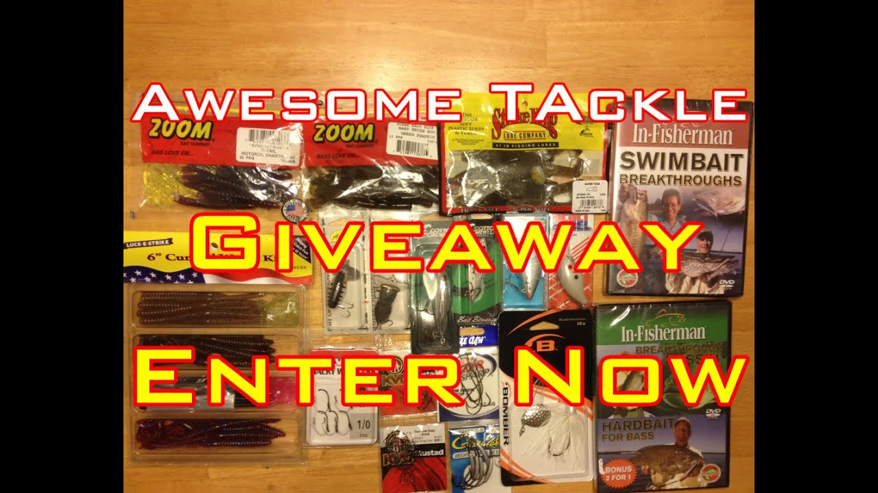 Closed awesome fishing tackle giveaway ends at 450 for Free fishing tackle giveaway