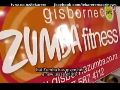 Gisborne people embrace Zumba to help get fit Te Karere Maori News TVNZ 9 Apr 2010 English Version