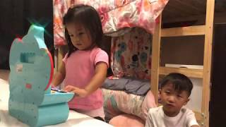 Funny toddler plays piano and singing Old Town Road/Need to Calm Down ft. Carter