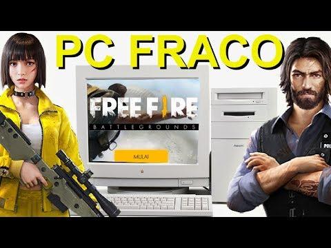 COMO JOGAR FREE FIRE EM PC FRACO !