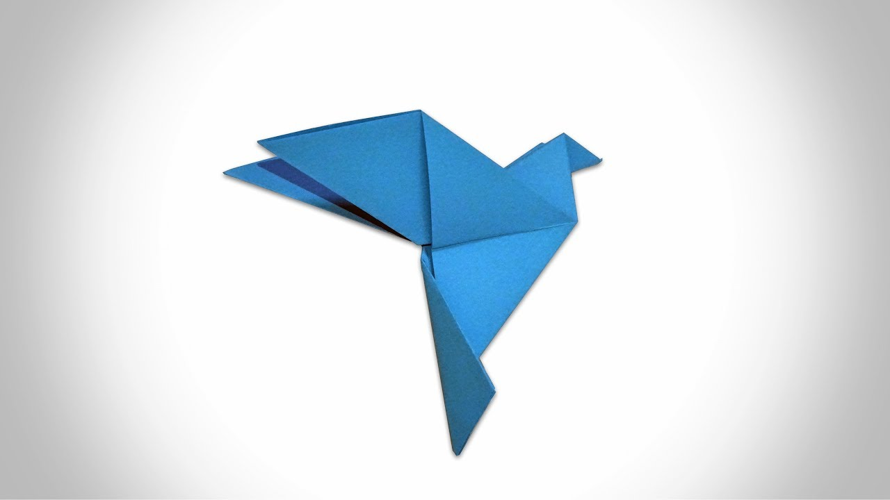 ORIGAMI DOVE - How to Make a Paper Dove - YouTube - photo#16