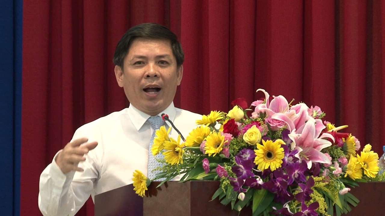 Thứ trưởng Nguyễn Văn Thể – Bộ GTVT phát biểu | Kỷ niệm 25 năm thành lập trường | 2015.04.26.(13)