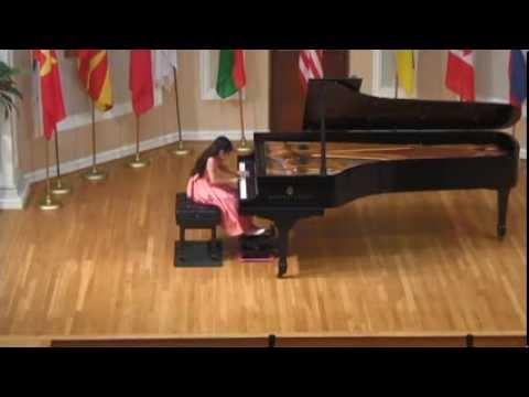 "8 year old M. Fan playing ""Birds"" by Bernstein"