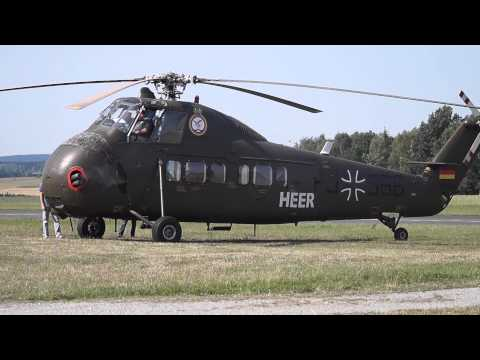 Sikorsky S-58 (H-34) Engine Start Fail (with Flames)