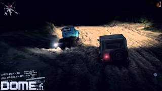 Dome: Spintires PC gameplay part 2 - night driver