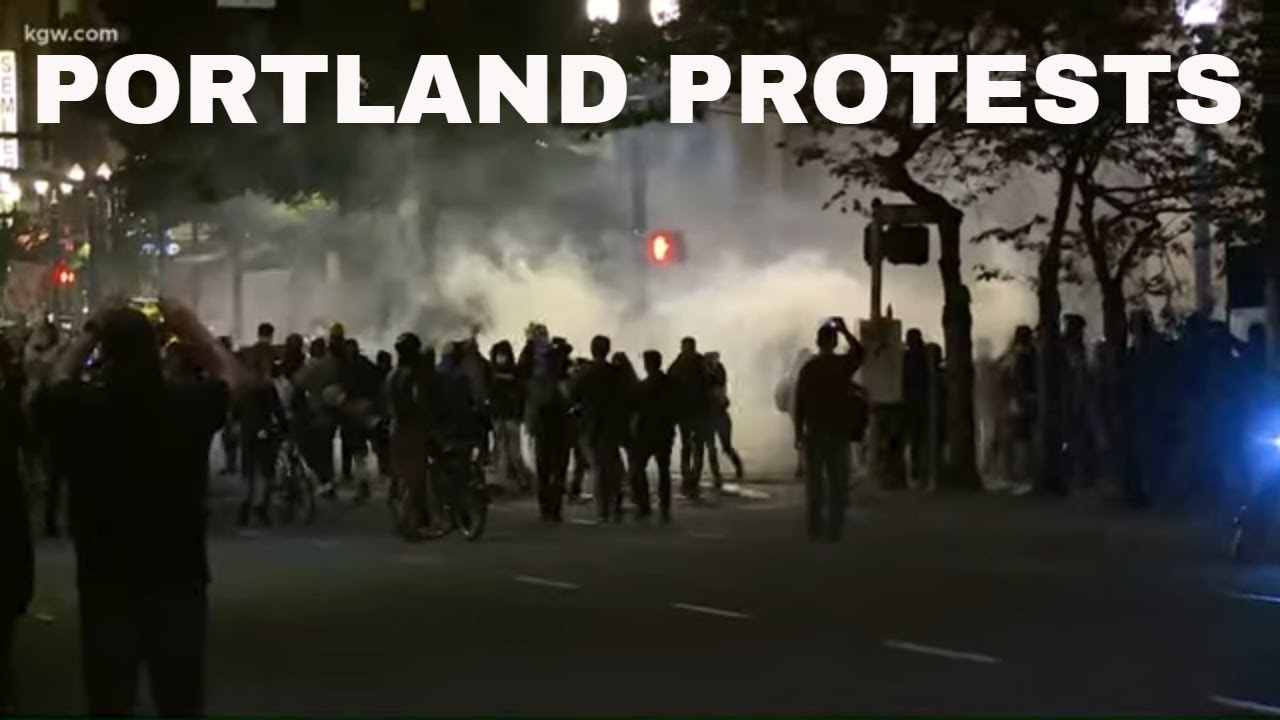 Police declare riot in Portland after union headquarters briefly set on fire