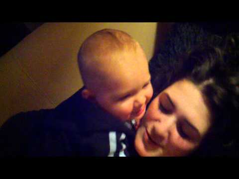 Roscoe kissing mummy