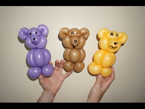 How To Make Teddy Bear From Balloon Youtube
