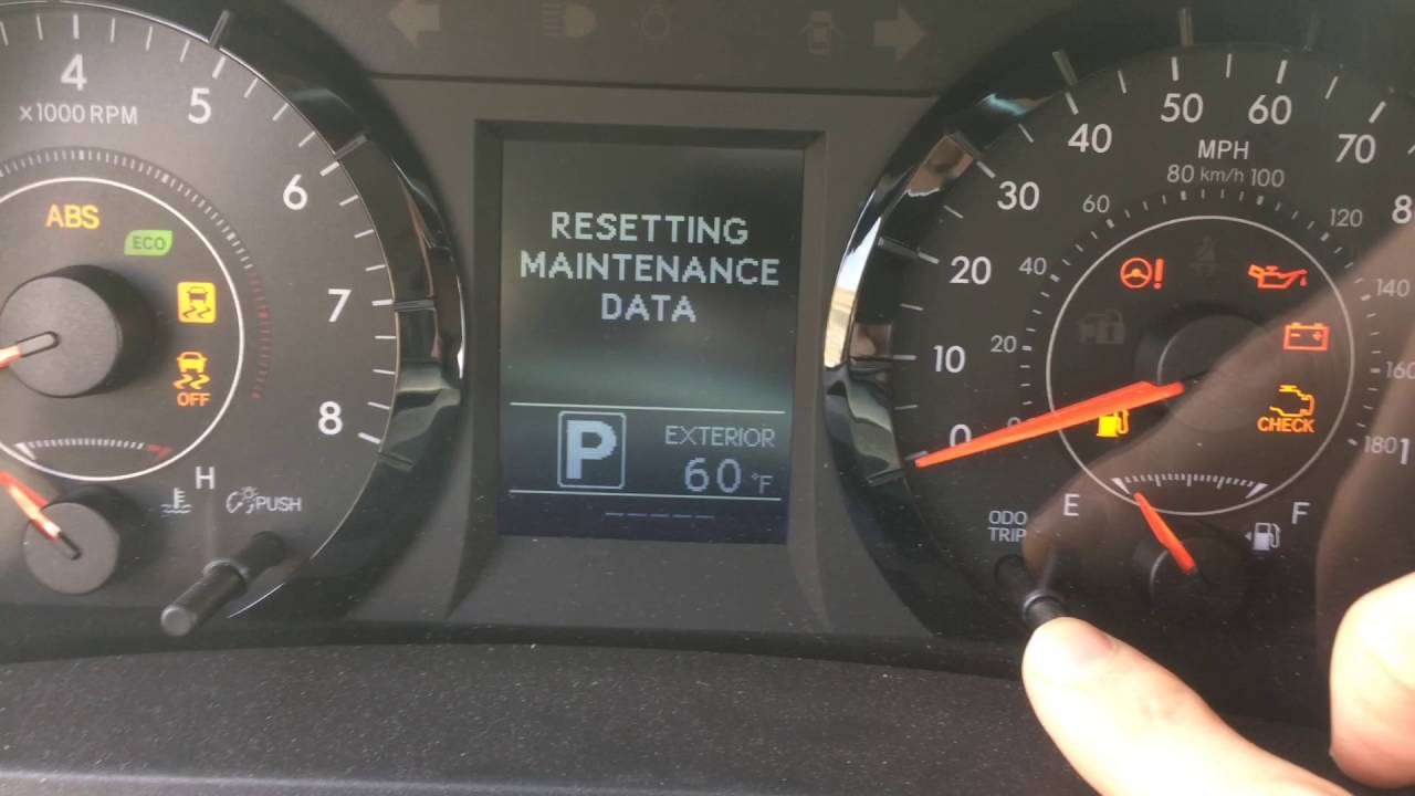 2007 toyota sienna maintenance light reset