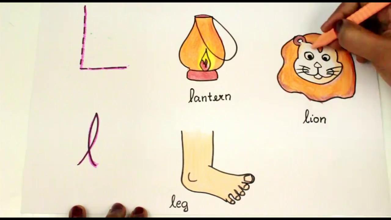 Coloring Letter L