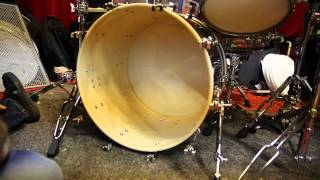 Muffling the bass drum tip by Gas Lipstick on a 16