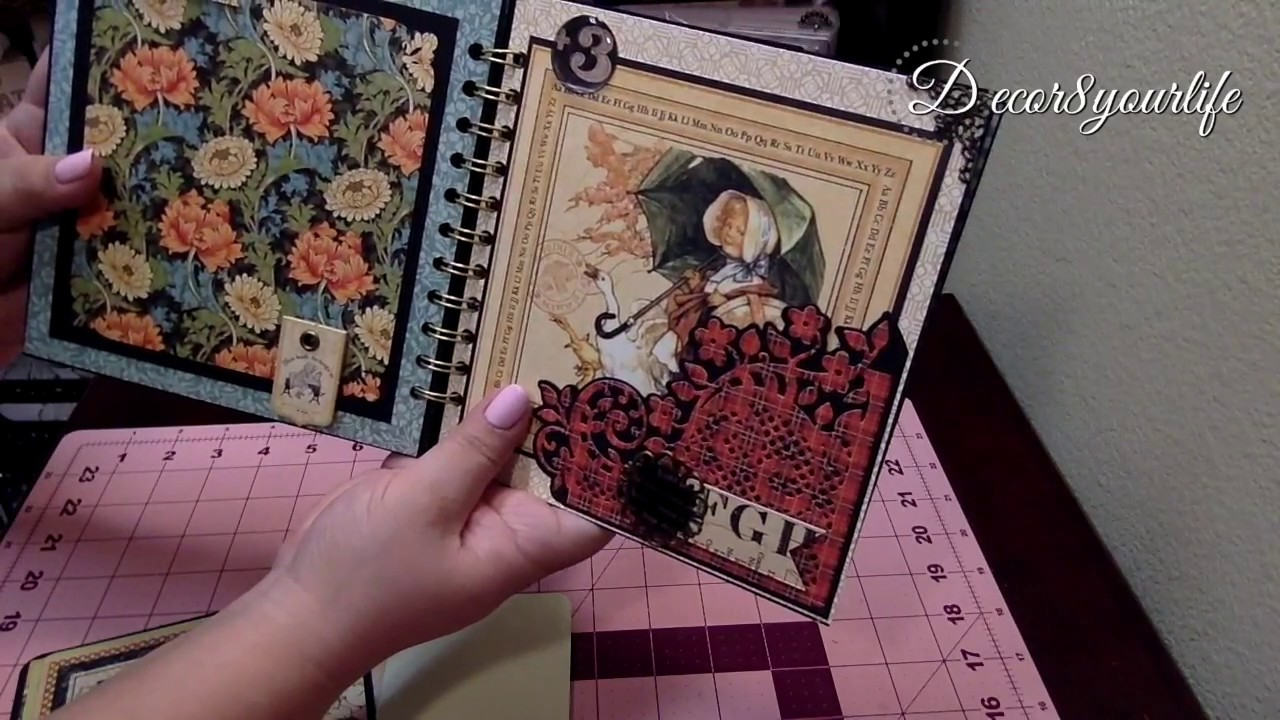 Scrapbook ideas abc album - Graphic 45 Abc Primer Mini Album