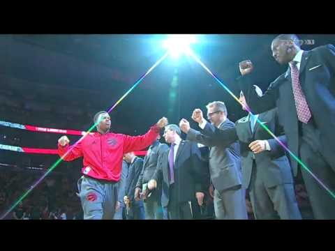 Toronto Raptors 2015 - 2016 Starting Lineups Intro Opening Night