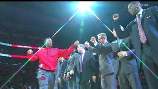 Repeat youtube video Toronto Raptors 2015 - 2016 Starting Lineups Intro Opening Night