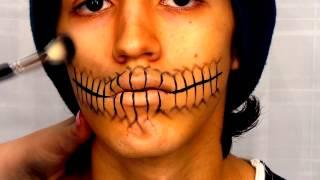 Skeleton Mouth Halloween Tutorial Thumbnail
